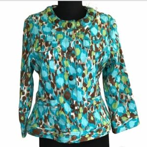 Ruby Rd Jacket Shimmering Snap Front Size 10